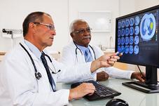 Radiologists interpreting test results