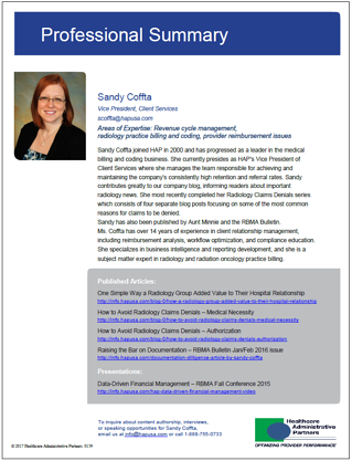 Sandy Coffta Professional Summary Healthcare Administrative Partners