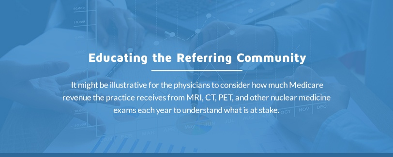 educating referrers for hospital-based radiologists